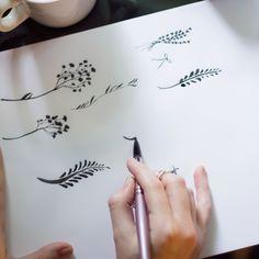 Florals and ink. #vsco #designer