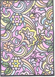 sadie f under 12 division from pretty paisley designs stained glass coloring book - Html Color Sheet