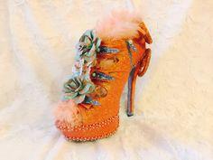Orange crush! Krewe of Muses 2016 glitter shoe.