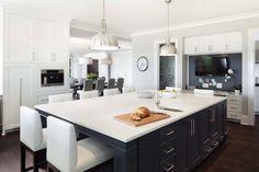 two-tone white/gray kitchen   quartz counters
