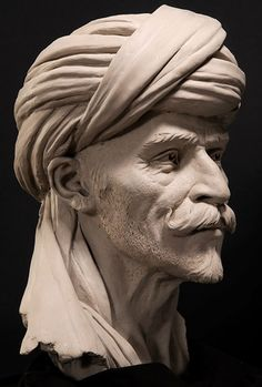 Bedouin Stone Sculptures, Full Figure Portrait Sculpting by Philippe Faraut