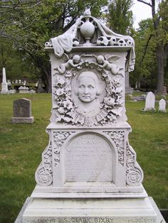 Forest Hills Cemetery-Boston - This beautiful and very fancy stone memorializes Lucy Bixby, a 45-year-old woman who died in 1864