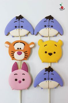 Winnie the Pooh, Tigger, Piglet, Eeyore Tsum Tsum Cookie Pops
