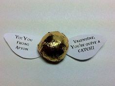 Harry Potter Snitch Valentines