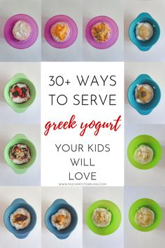 Looking for ways to incorporate more protein rich foods into your baby / toddler / kids diet? Here are healthy, quick and easy ideas and ways to use and serve Greek yogurt that even your picky eater will love. Protein Rich Foods, Healthy Protein, Fiber Snacks, Baby Puree, Honey And Cinnamon, Kids Diet, Food Labels, Easy Snacks, Picky Eaters