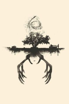 """True Detective """"Along the shore the cloud waves break, The twin suns sink behind the lake, The shadows lengthen In Carcosa Strange is the night where the black stars rise, And strange moons circle through the skies, But stranger still is Lost Carcosa"""" The King in Yellow"""