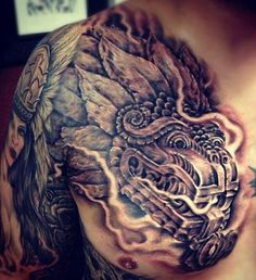 Los Mejores Tatuajes aztecas y mayas con significado completo y real!