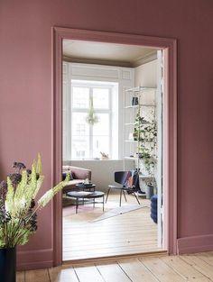 Ferm Living's Showcase Home In Copenhagen Living Room Decor, Living Spaces, Bedroom Decor, Best Interior, Interior Design, Room Interior, Deco Rose, Retro Home Decor, Wall Colors