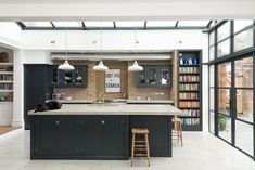 Clean straight lines give the industrial kitchen a modern feel [Design: deVOL Kitchens Most Popular Kitchen Design Ideas on 2018 & How to Remodeling Kitchen Extension, Industrial Kitchen Design, Kitchen Design, Kitchen Inspirations, Modern Kitchen, Devol Kitchens, New Kitchen, Kitchen Interior, Kitchen Styling