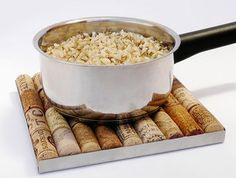 wine bottle crafts | ... Used Wine Bottle Corks for Hot Pot Coasters, Green Ideas for Crafts