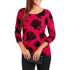 George Women's Pullover Sweater, Size: Medium, Multicolor