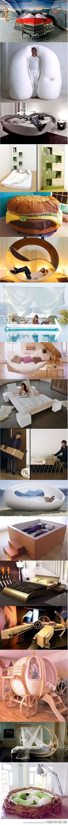 awesome beds! These all look comfy but how amazing is the second one! Ultimate comfort!