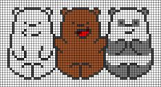 Easy Perler Bead Patterns, Fuse Bead Patterns, Diy Perler Beads, Perler Bead Art, Easy Pixel Art, Pixel Art Grid, Cross Stitch Designs, Cross Stitch Patterns, Crochet Wall Art
