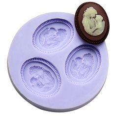 Dia das mães mãe e filho de moldes de silicone para decoração do bolo molde fondant ofício açúcar molde do doce de chocolate cozinha F0585MZ35