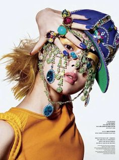 Haute Harajuku Portraiture - The Beauty And The Bling V Magazine Editorial Exudes Opulence (GALLERY)