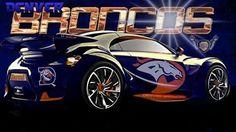 I want this car Go Broncos, Denver Broncos Football, Broncos Fans, Sport Football, Bronco Car, Bronco Sports, Broncos Stadium, Peyton Manning, Professional Football