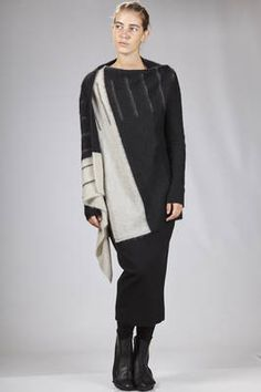 Rick Owens   long cardigan in mohair, polyamide and nylon cloth with two sides of different colors   #rickowens