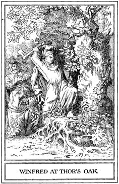Historically, Christian leaders have had a complicated  relationship with interfaith outreach. In 742, the man  who became Saint Boniface reached out to heathens  by chopping down Thor's holy oak with an axe.