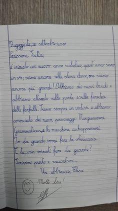Classe Terza-Italiano-la Lettera- Settembre - Maestra Anita Bullet Journal, School, 3, Craft, Schools