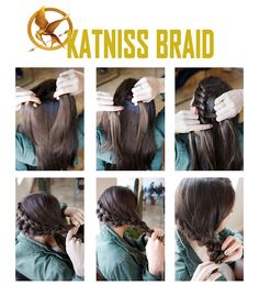 Katniss Everdeen Tutorial - - One of the world's most popular and best-selling series, the Hunger Games trilogy and films have attracted many audiences. This is a how-to for Katniss Everdeen's hair, makeup, outfit, and more. Katniss Everdeen Hair, Katniss Hair, Katniss Everdeen Costume Ideas, Katness Everdeen Costume, Katniss Everdeen Halloween Costume, Tribute Von Panem Film, Hunger Games Costume, Hunger Games Outfits, Hunger Games Makeup