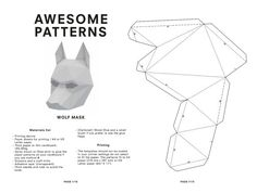 Make your own Wolf Mask Animal Mask Instant Pdf by AwesomePatterns