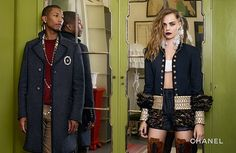 Cara Delevingne and Pharrell for CHANEL