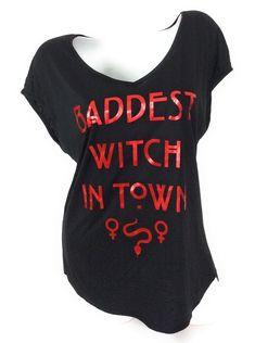 e751ebf8d2b82f Universal Studios Halloween Horror Nights Women s Shirt Baddest Witch In  Town  UniversalStudios  Openbackteeshirt Universal