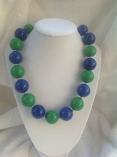 Green and Blue Chunky Necklace