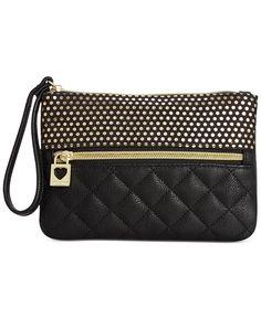 Betsey Johnson Macy's Exclusive Wristlet - Handbags & Accessories - Macy's