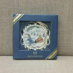 "Wedgwood ""Peter Rabbit"" Sleigh Ride Ornament NIB Christmas 1999 4th in Series"