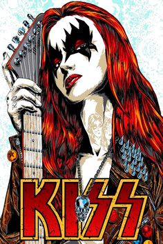 Rock And Roll, Pop Rock, Banda Kiss, Rock Band Posters, Kiss Art, Ace Frehley, Hot Band, Tour Posters, Music Posters