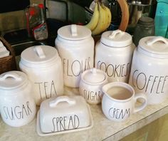 I never thought I'd love kitchen canisters this much. But hopefully by the end I'll have them all