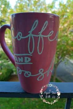Coffee and Posh pink and silver glitter by iLoveLizsBoutique
