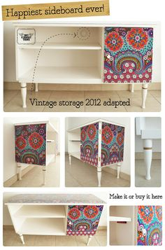 DIY: Tapizar un aparador antiguo / Lining an antique sideboard | DIY, talleres, slow products