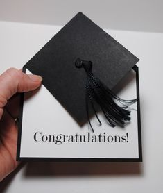 Graduation Cap card and tutorial.   I did this for my S-I-L when he graduated from the University of Bath.   I am SO proud of him!