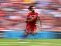 Mohamed Salah of Liverpool in action during the Premier League match between Liverpool FC and West Ham United at Anfield on August 12 2018 in. Stock Pictures, Stock Photos, Portland Thorns, Mohamed Salah, Wayne Rooney, Premier League Matches, West Ham, Liverpool Fc, Low Key