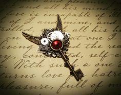 Steampunk brooch/necklace. etsy.com/shop/bulletsbeadsbaubles