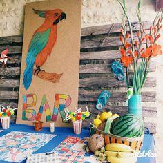 Une bien belle déco de fête sous les tropiques réalisée par Camille et inspirée de Créative n°30 :D Camille
