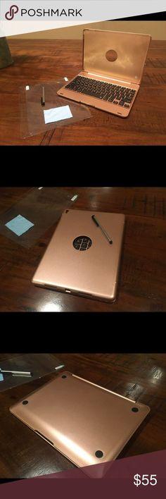 Awesome iPad Pro 2017: iPad Air 2 and iPad Pro 9.7 keyboard case Wireless Bluetooth rose gold keyboard ...  My Posh Picks