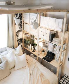 Ivar Regal, Desks For Small Spaces, Ikea Bedroom, Minimalist Interior, New Room, Decoration, Room Inspiration, Interior Design, House Styles