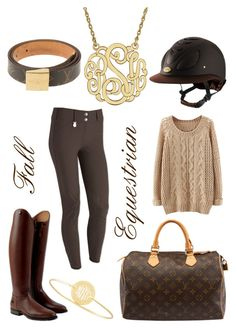 """""""Fall Equestrian"""" by stylemyride ❤ liked on Polyvore featuring Louis Vuitton and Sarah Chloe"""