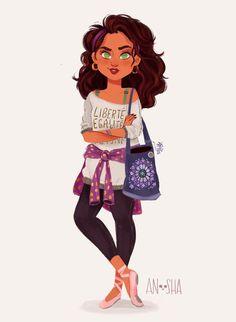 esmeralda ilustración