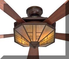 19 best Ceiling fans with lights  Mission   Arts and Crafts     Black Friday 2014 Hunter 21978 1912 Mission Ceiling Fan with Five Dark  Cherry Dark Walnut Blades and Light Kit  Bronze from Hunter Fan Company  Cyber Monday