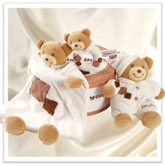 Patchwork Baby Bear Gift Set - $49