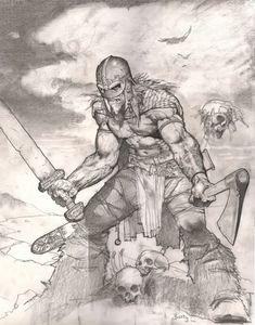 Art by Simon Bisley * Art And Illustration, Fantasy Artwork, Comic Books Art, Book Art, Drawing Sketches, Art Drawings, Vikings, Character Art, Character Design