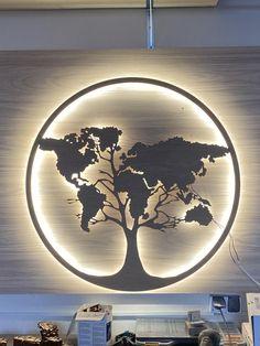 Wood World Map, World Map Wall Art, Rustic Wall Clocks, Rustic Walls, Wood Wall Art, Wall Art Decor, Light Wall Art, Minimalist Clocks, Photo Deco