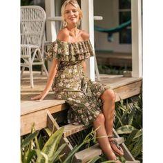 44e465ff4d Off Shoulder Floral Print Ruffle Hem Dress Ootd Fashion