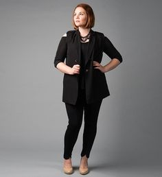 Copy Cat - The Winter Vest. For more inbetweenie and plus size inspiration go to www.dressingup.co.nz