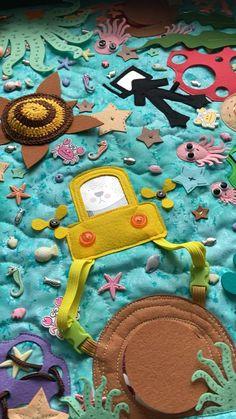 Infant Sensory Activities, Preschool Learning Activities, Sensory Wall, Baby Sensory, Toddler Crafts, Toddler Toys, Felt Puppets, Navy Nursery, Ocean Party