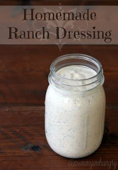 homemade ranch dry mix and dressing recipe...no MSG like the Hidden valley Ranch stuff